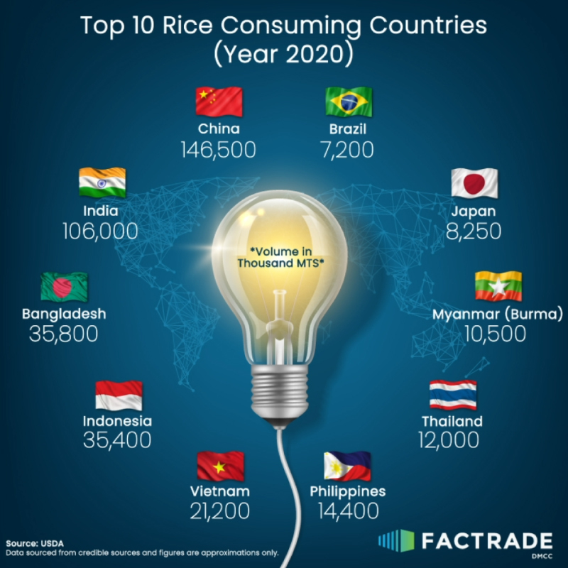Top 10 Rice Consuming Countries